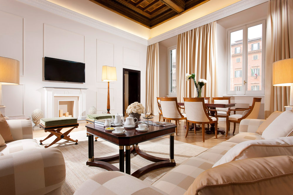 Sand Suite at Grand Hotel de la Minerve, Rome Italy