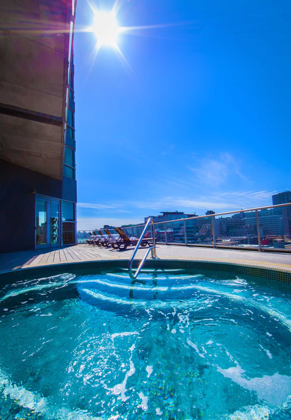 Rooftop Pool at Hotel Le Crystal | Montreal, Quebec, Canada