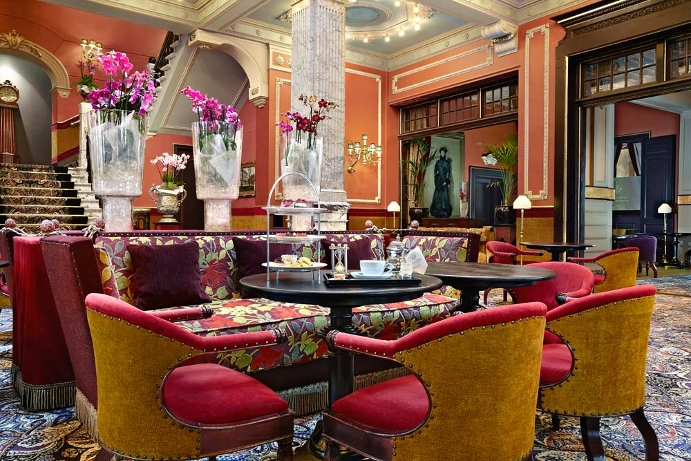 Reception and Lounge at Hotel Des Indes, The Hague, Netherlands