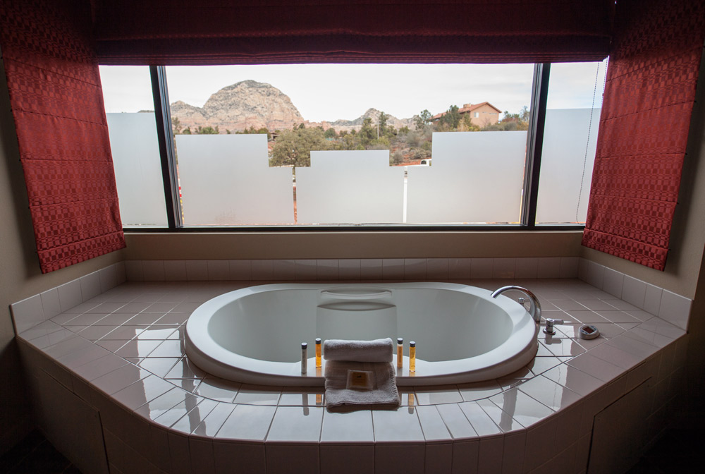 Suite Bath at Sedona Rouge Hotel and Spa, AZ