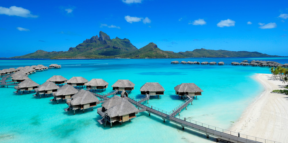 Overview of Four Seasons Resort Bora Bora, French Polynesia