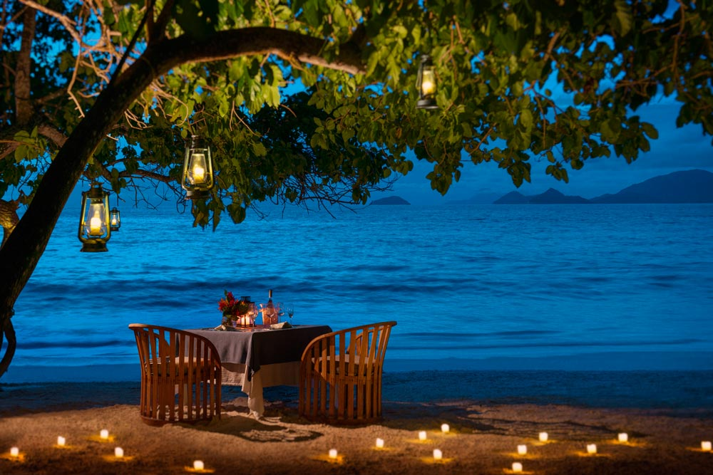 Private dining at Four Seasons Resort Seychelles