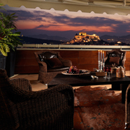 Presidential Suite Terrace at Divani Caravel Hotel Athens, Greece