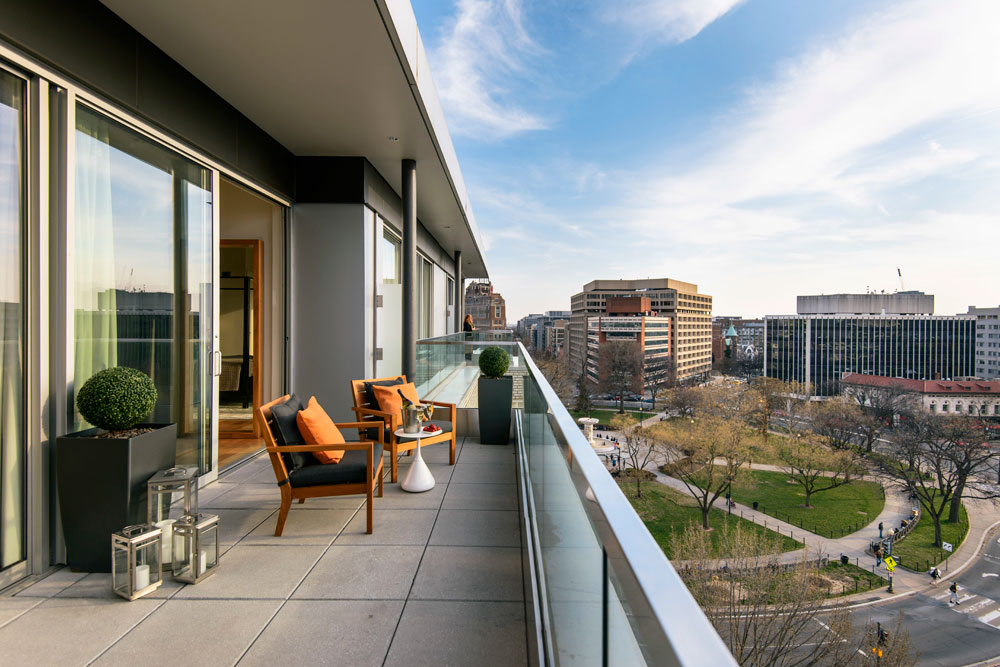 Level Nine Penthouse Terrace at The Dupont Circle Hotel, Washington, DC