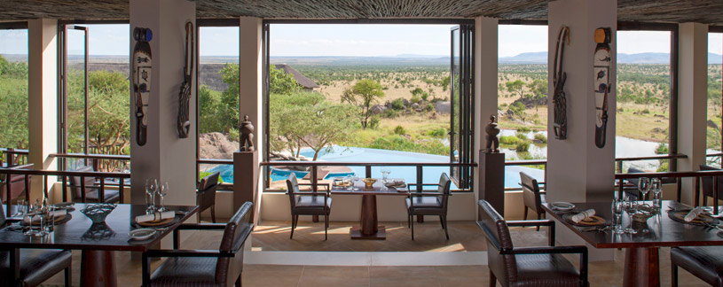Dining area at The Four Seasons Serengeti