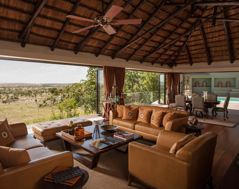 Sitting area at The Four Seasons Serengeti