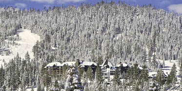 The Ritz-Carlton Lake Tahoe Exterior in Winter