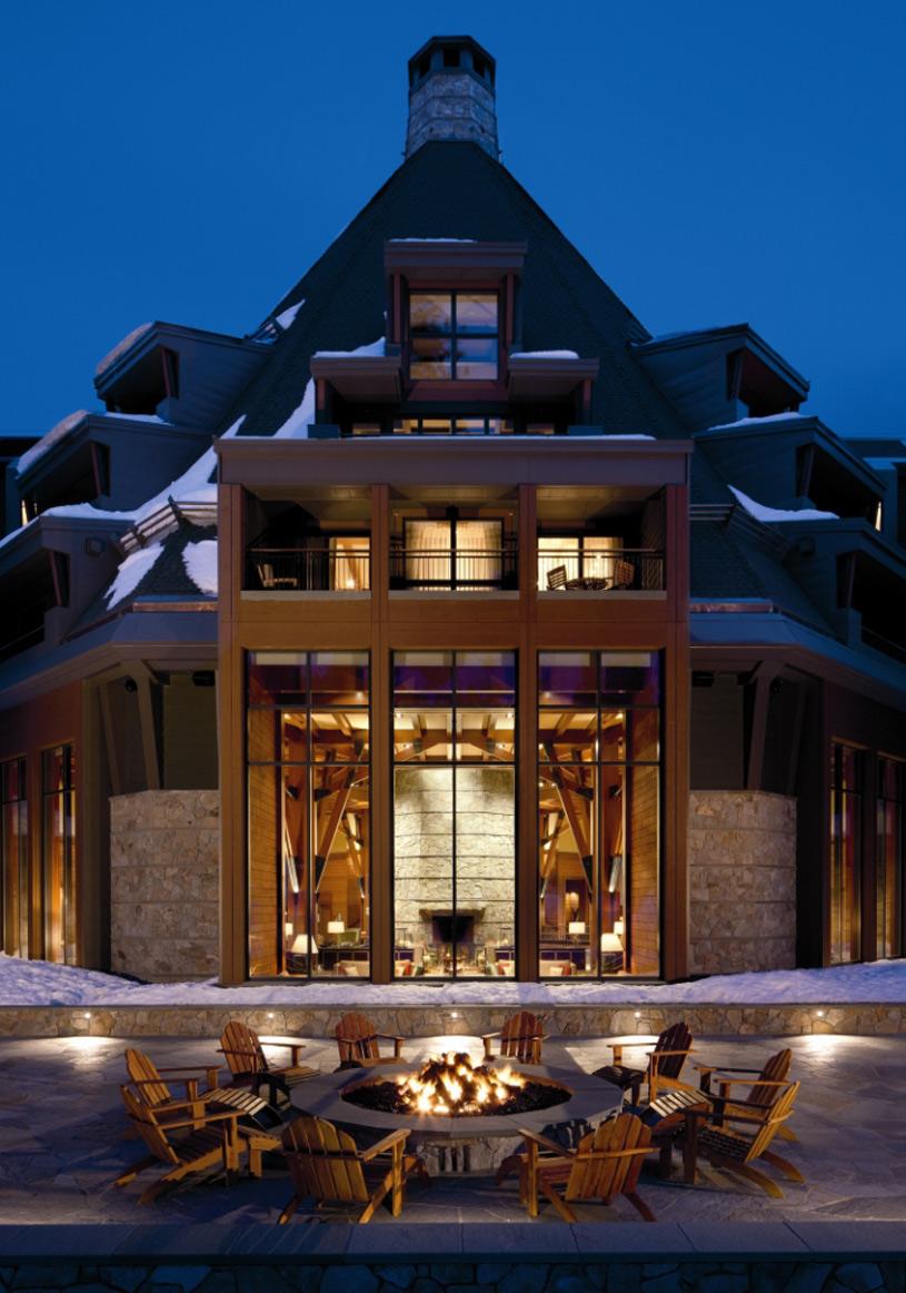 Fire pit at The Ritz-Carlton, Lake Tahoe