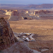 An aerial view of Amangiri in Canyon Point, Southern Utah courtesy of Amanresorts