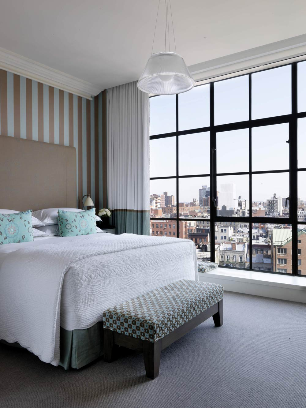 Guestroom at Crosby Street Hotel, New York