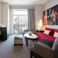 Suite Living Area of Gansevoort MeatPacking in New York City