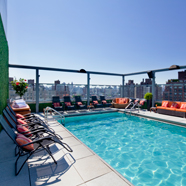 Rooftop Pool in Gansevoort Meatpacking New York City