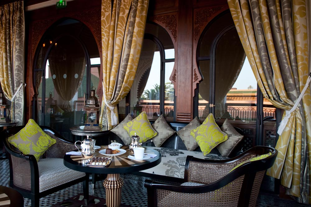 Lounge at Royal Mansour Marrakech