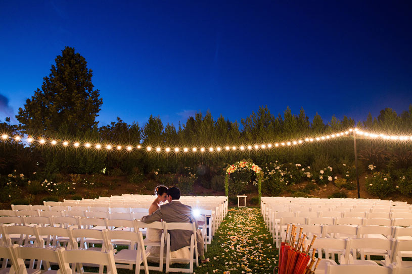 Solstice Lawn Wedding at The Solage Calistoga