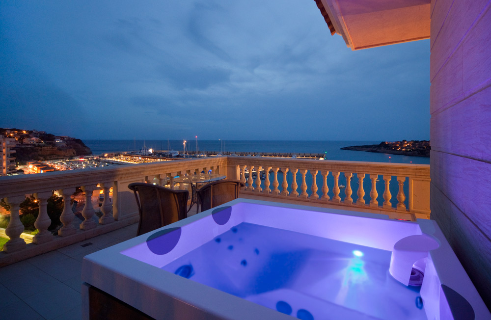 City View Jacuzzi at Port Adriano Marina Golf and Spa, Spain