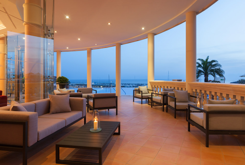Lounge With a View at Port Adriano Marina Golf and Spa, Spain
