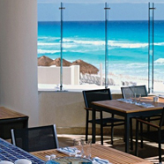 Beach Dining at Live Aqua Cancun, Mexico