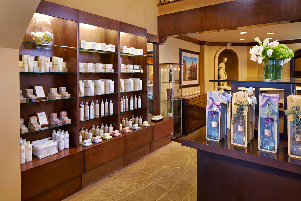 Browse through spa products at Miramonte Resort and Spa, Indian Wells, CA