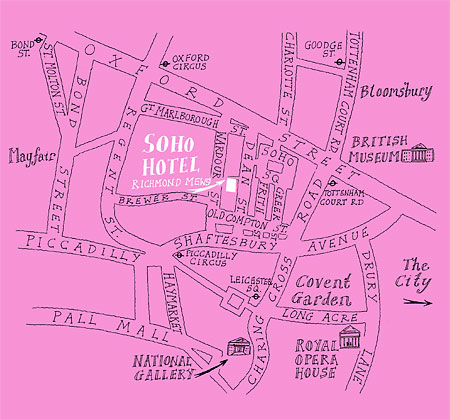 The London Soho Area Map
