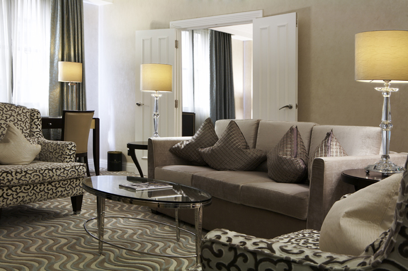 The Westbury London Corner Suite Living Room