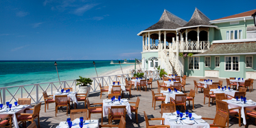 Beach Side Dining at Sandals Montego Bay, Jamaica