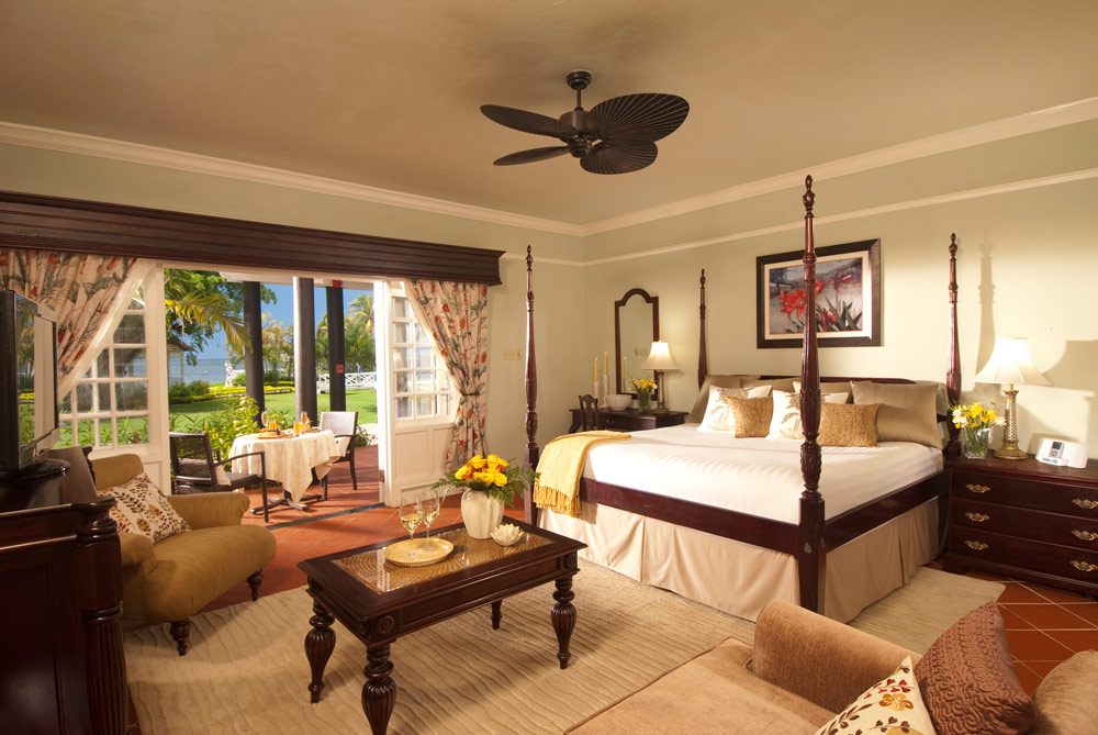 Guest Room at Sandals Negril Beach Resort and Spa, Negril, Jamaica