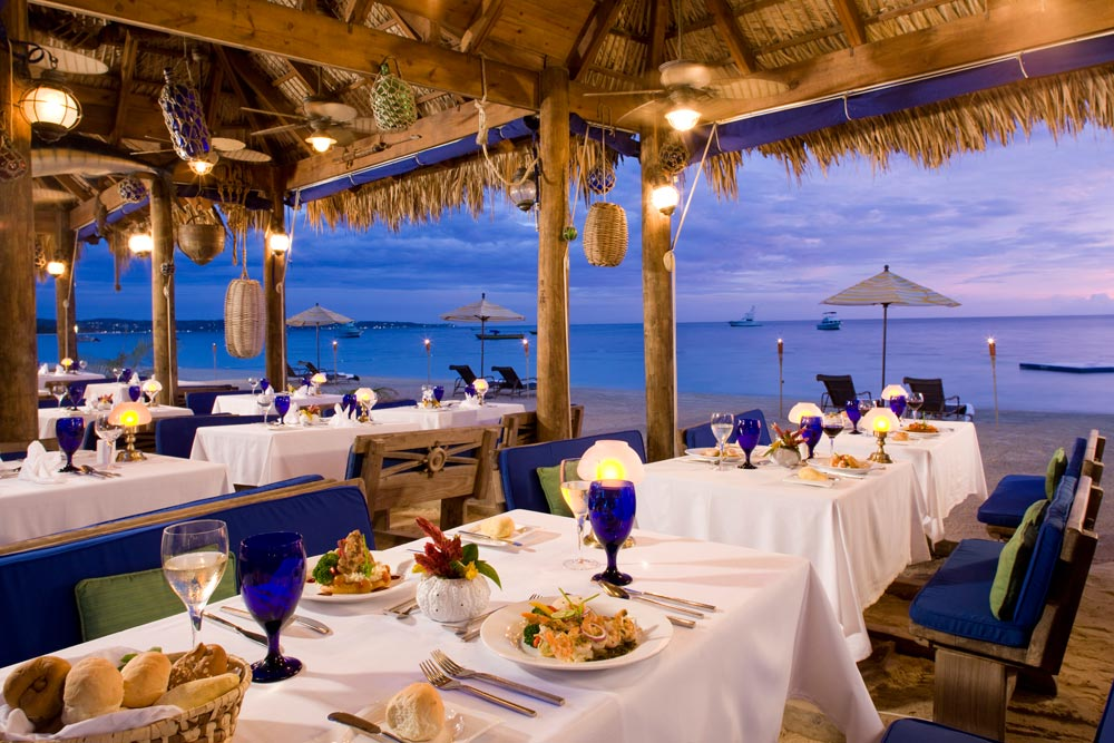 Beach Dining at Sandals Negril Beach Resort and Spa, Negril, Jamaica