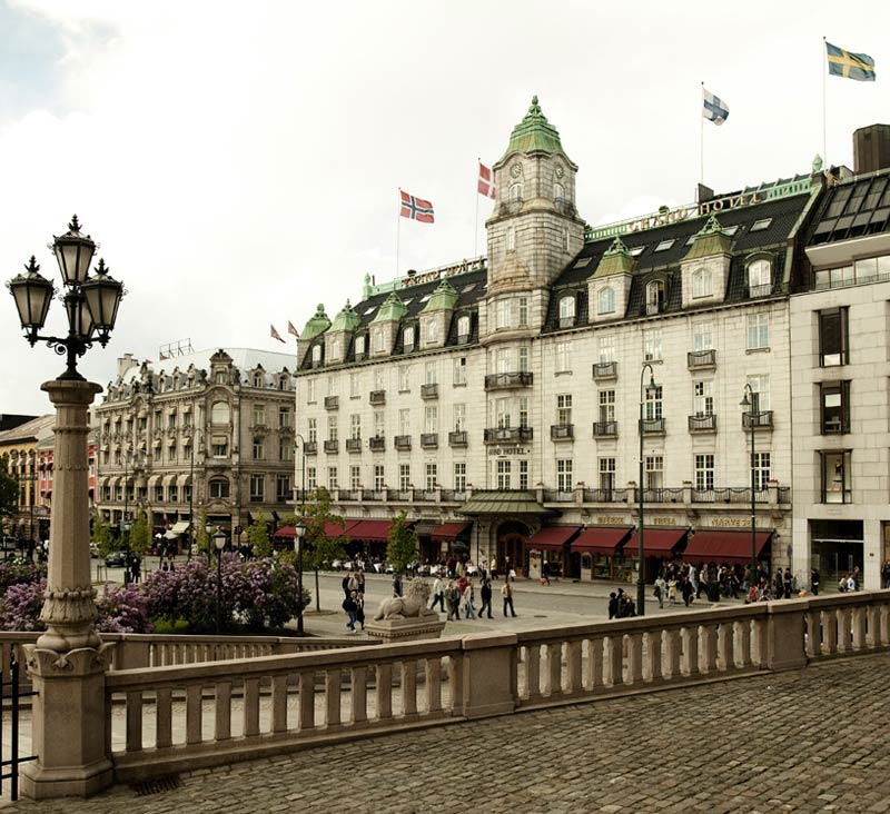 Exterior of Grand Hotel Rica in Oslo