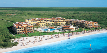 Aerial view of Secrets Capri Riviera Cancun in Playa Del Carmen, Mexico