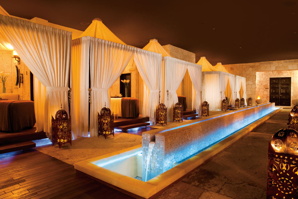 Private indoor massage cabanas at Secrets Maroma Beach Riviera Cancun in Playa Del Carmen, QR, Mexicol