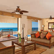 Presidential Suite Living Area at Dreams Riviera Cancun Resort and Spa
