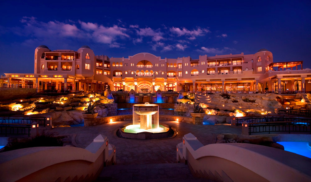 Main Hotel Building of Kempinski Hotel Soma Bay, Hurghada, Red Sea, Egypt