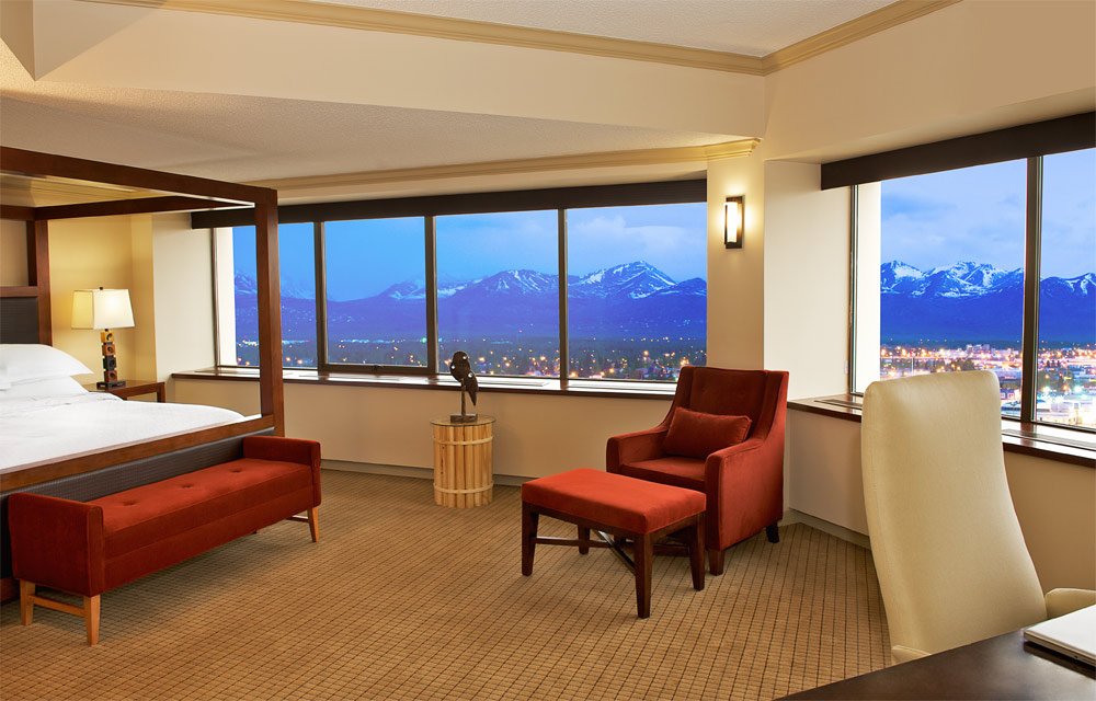 Junior Suite with Surrounding Views at Sheraton Anchorage Hotel and Spa, Anchorage, AK