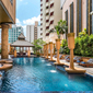 Pool and Lounge at Grand Sukhumvit Hotel Bangkok, Thailand
