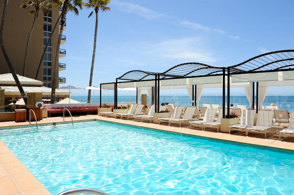 Outdoor Pool at Surf and Sand Resort, CA