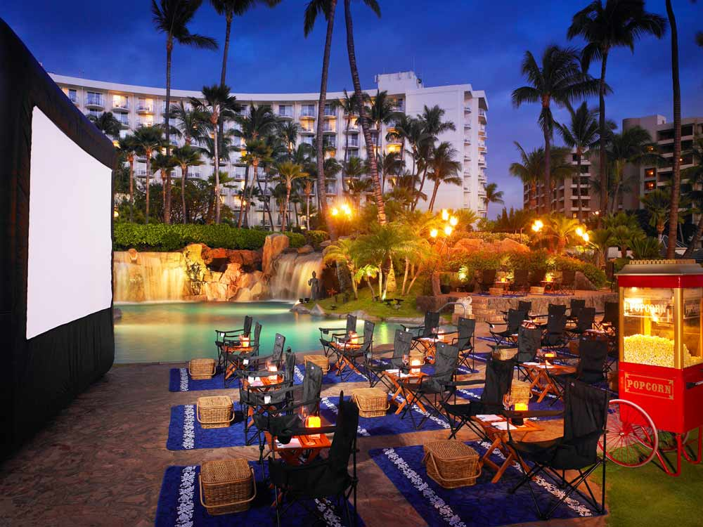 Movie Night by the Pool at the Westin Maui