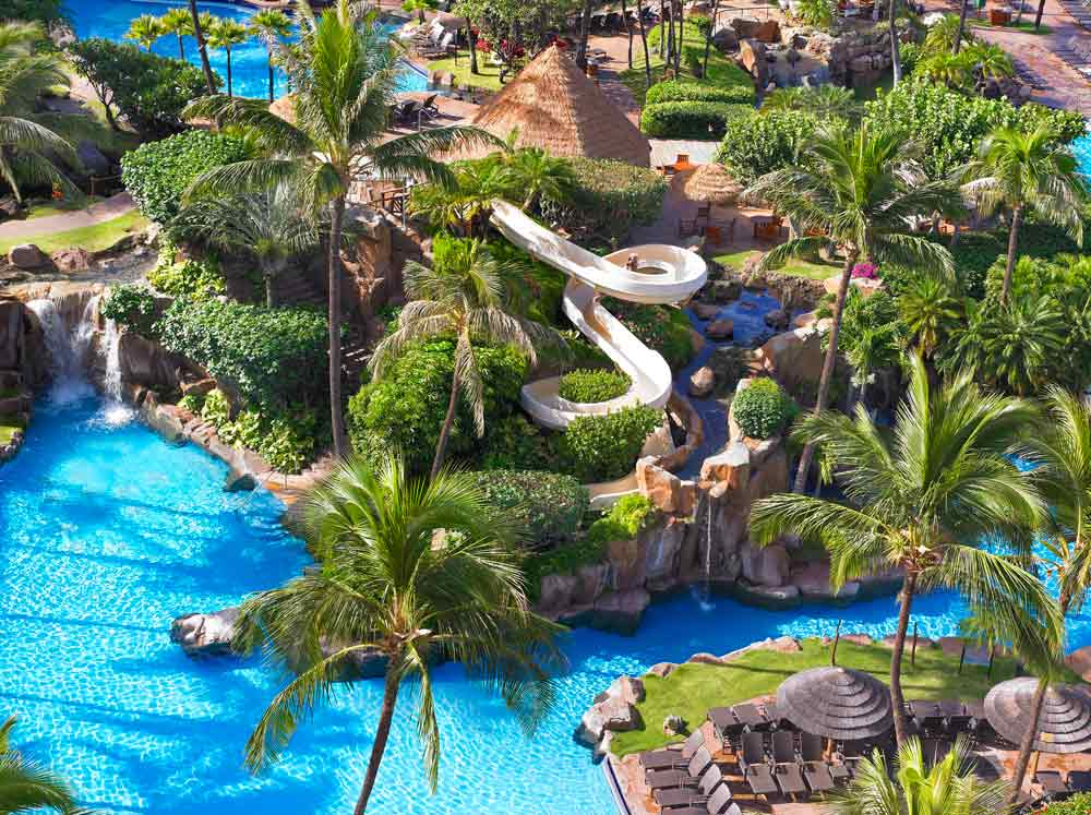 Pool Complete with Slide at Westin Maui