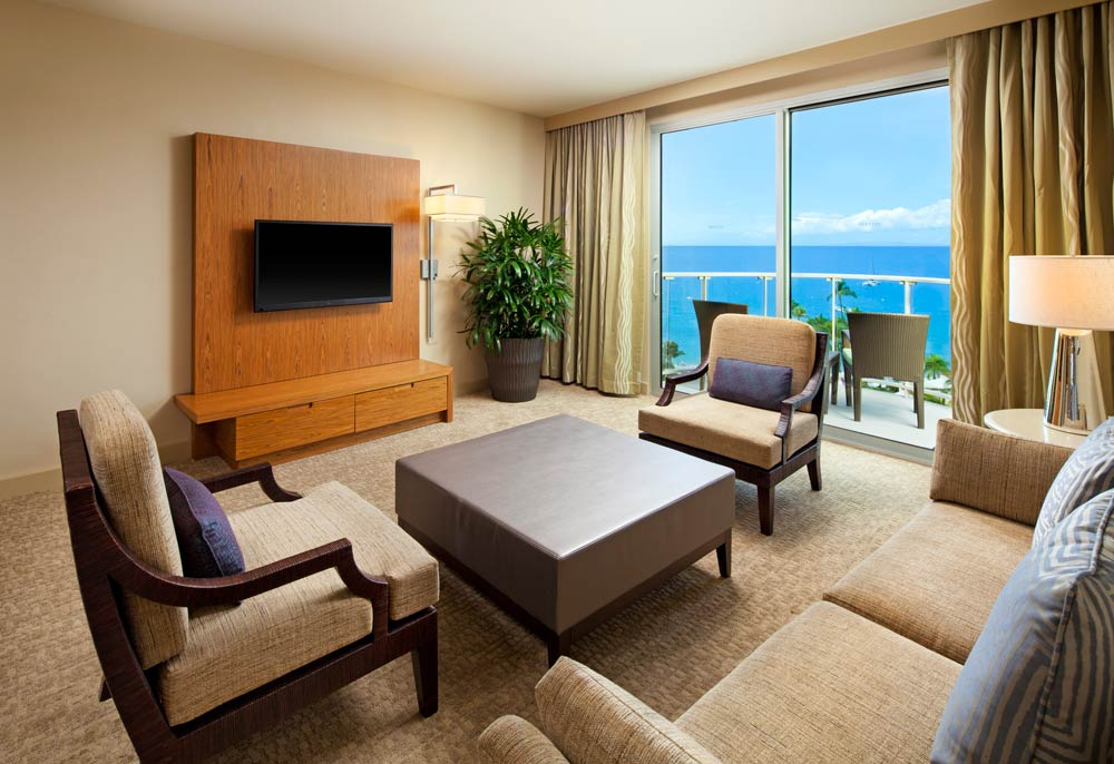 Living Room of Exectutive Suite at Westin Maui