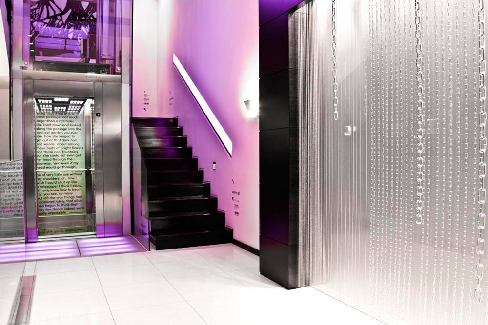 Elevators at Internacional Design Hotel