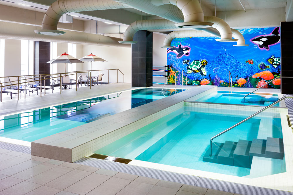 Indoor Pool at Le Westin Montreal, Canada