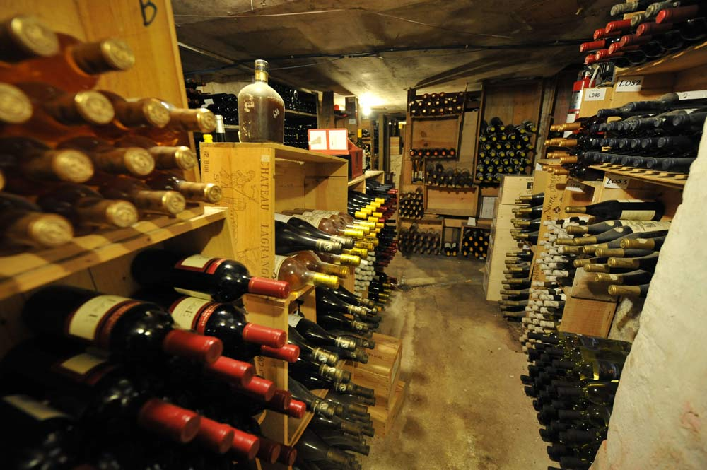 Wine cellar at Graycliff
