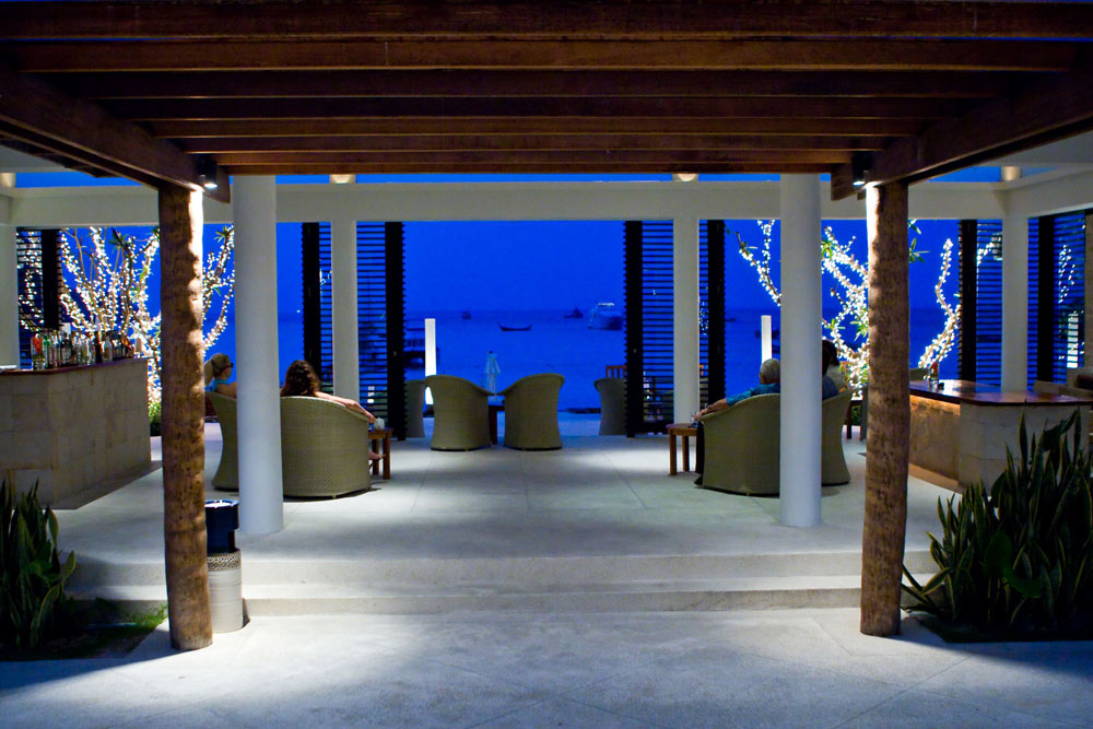 Lobby Bar by Night at The Racha Phuket, Thailand