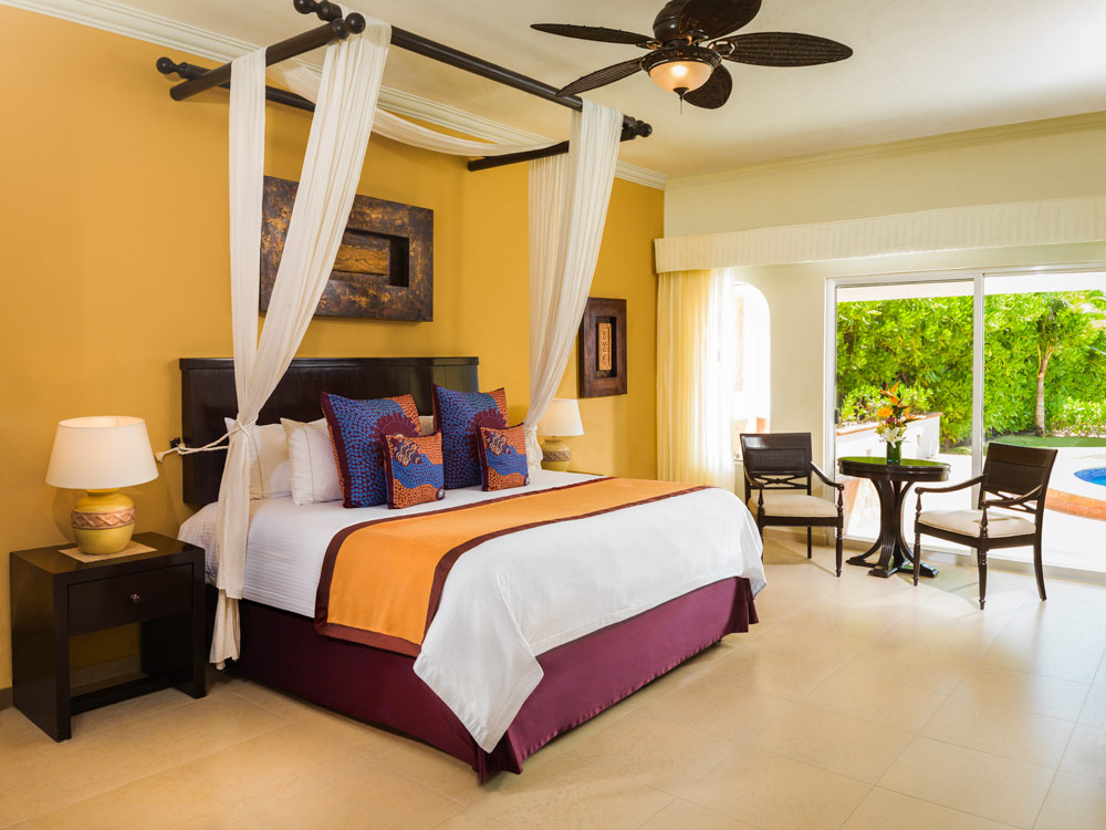 Presidential Suite Coba Master Bedroom at El Dorado Royale Spa Resort