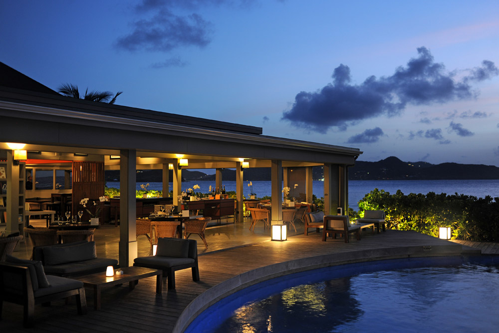 Taino by Piter dining venue at Hotel Le Christopher, Saint-Barthélemy, France