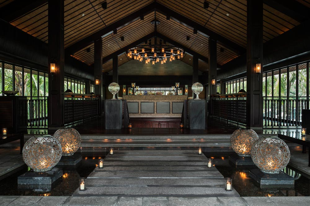 Entrance of Bar at Nam Hai Hotel