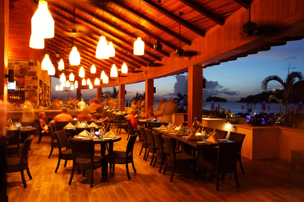 Beach Club Restaurant at Buccament Bay Spa and Resort, Saint Vincent and the Grenadines