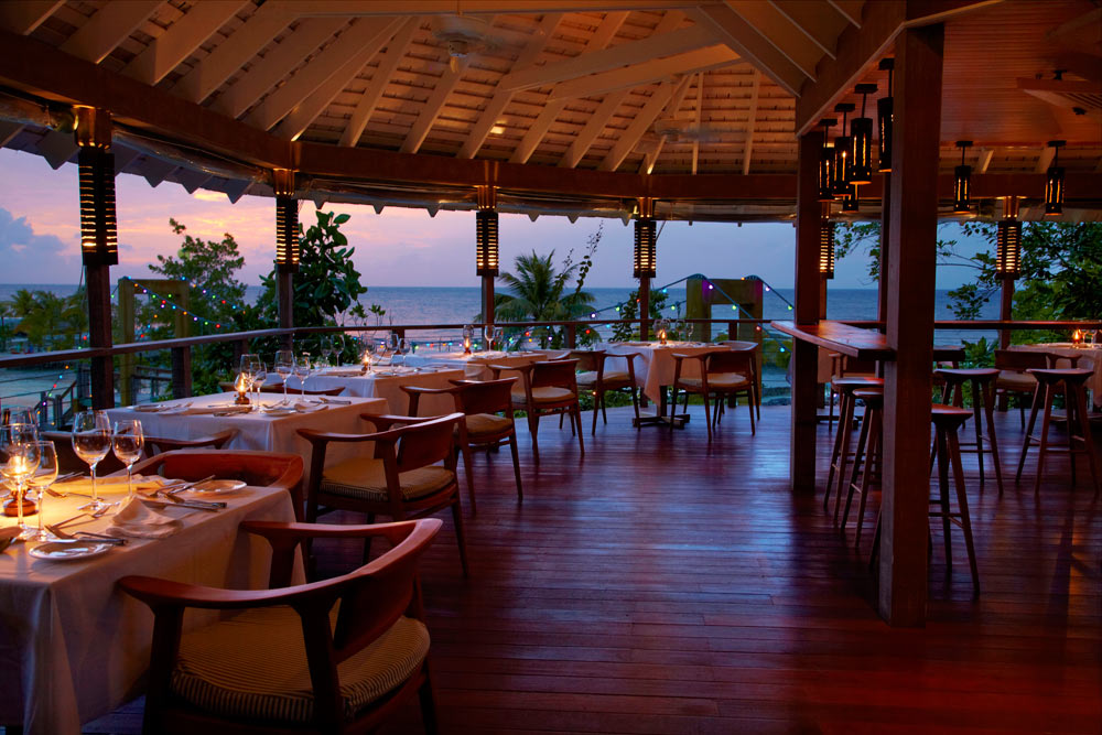 Dining at GoldenEye Hotel and Resort St. Mary, Jamaica