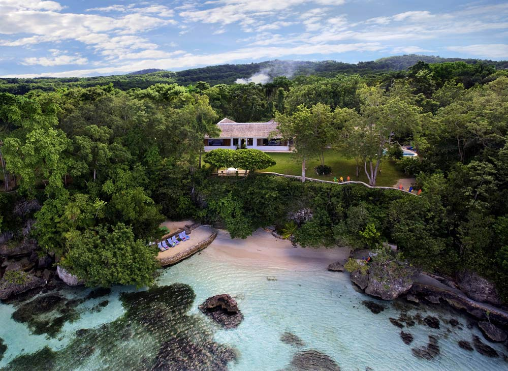 Aerial View of GoldenEye Hotel and Resort St. Mary, Jamaica