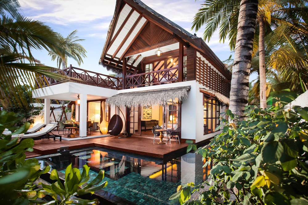 Exterior of Two Bed Beach Suite at Jumeirah Vittaveli, South Male Atoll, Maldives