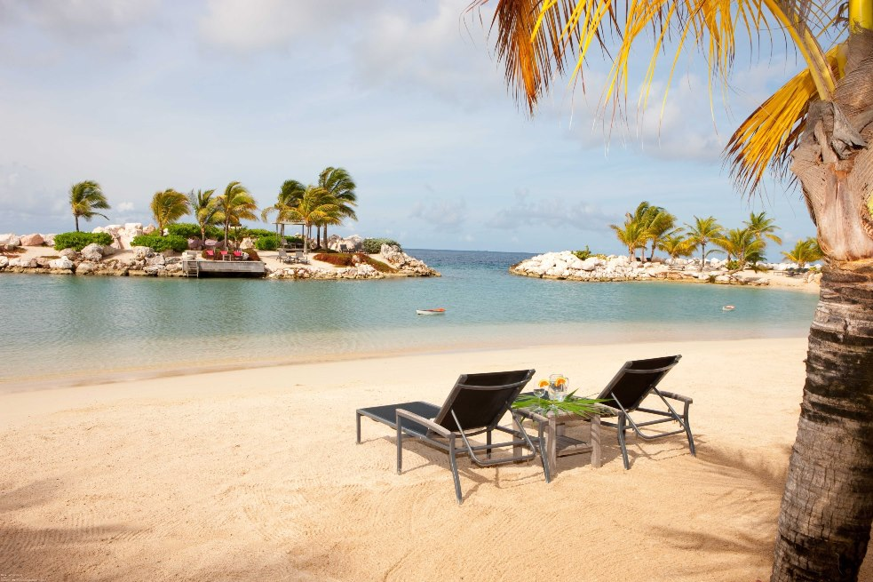 Beach At The Baoase Luxury Resort In Curacao
